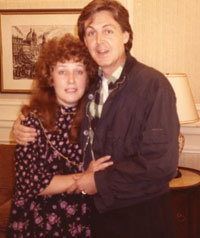 Helen with Paul McCartney