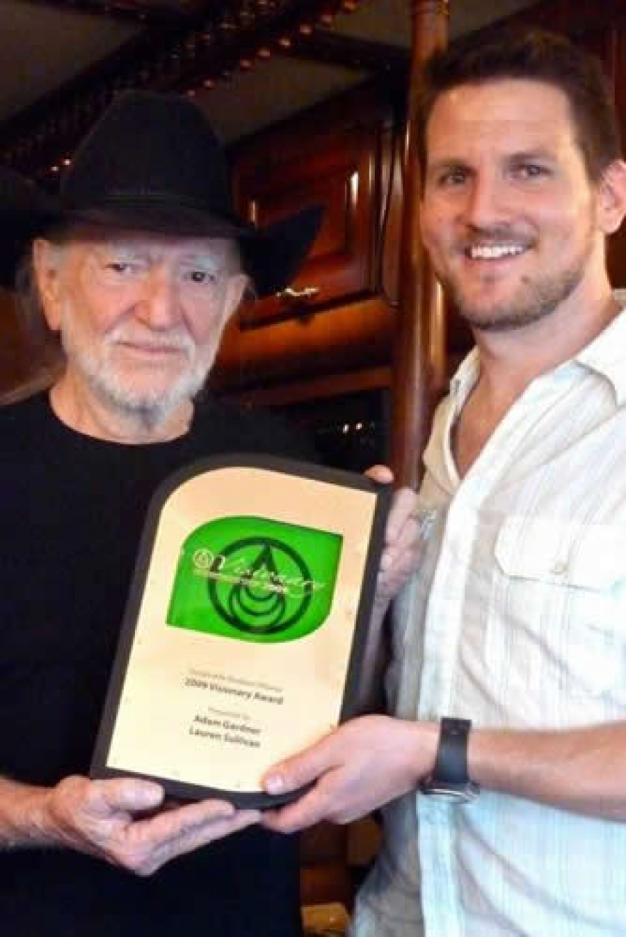 Willie Nelson and Adam Gardner